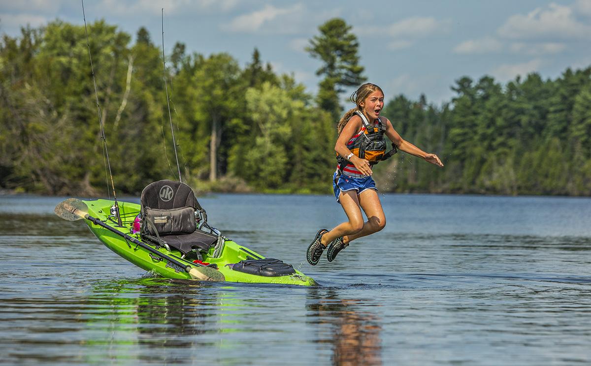 safety in kayak fishing
